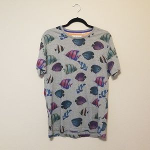 Ted Baker Fish T-Shirt Size 4